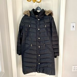 Michael Kors Hooded Faux-Fur-Trim Puffer Coat Size 2X